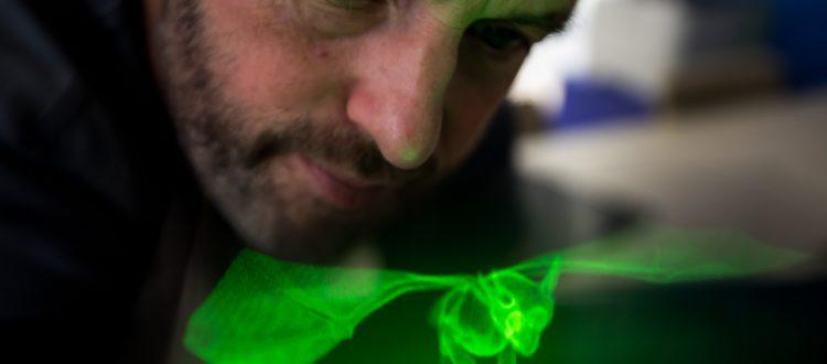 3D dragon hologram