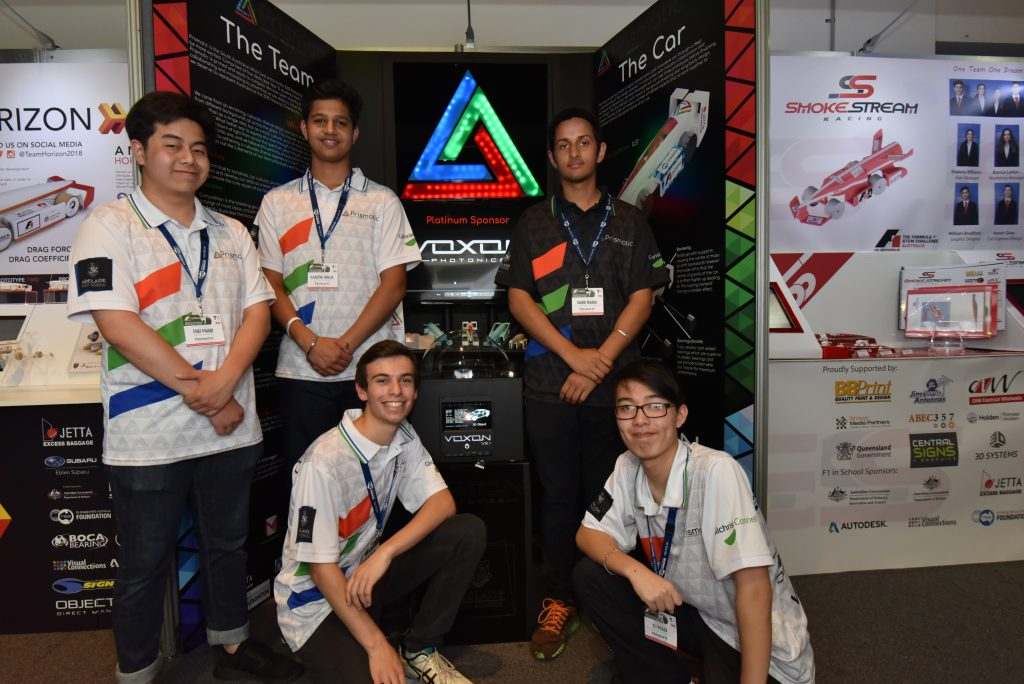 Adelaide High School's Primatic team at the F1 in Schools Finals