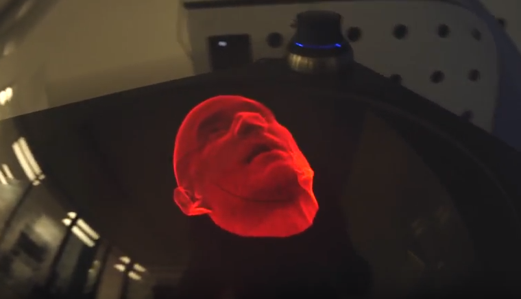 Faceware on Voxon's 3D Volumetric Display