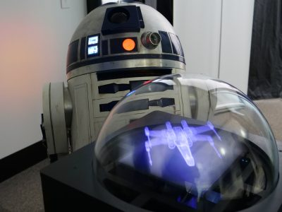 R2D2 and Voxon Photonics VX1