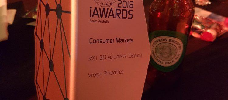 Voxon Photonics iAwards winner