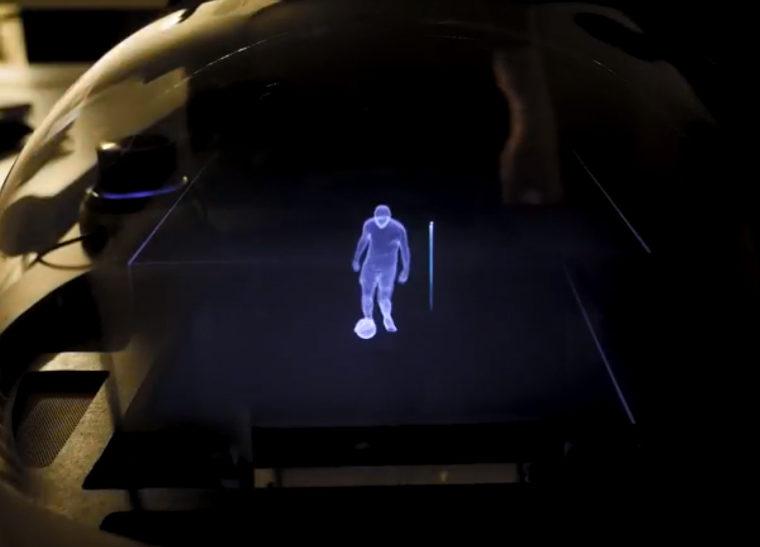 soccer hologram
